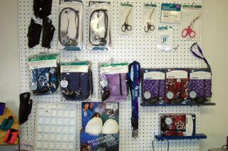Nurses supplies, Stethoscopes, blood pressure cuffs and more.